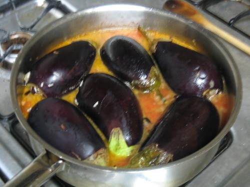 Lebanese Style Stuffed Eggplant