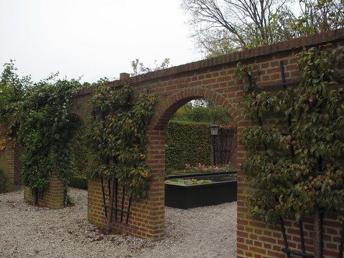 Arched walkways on stone walls