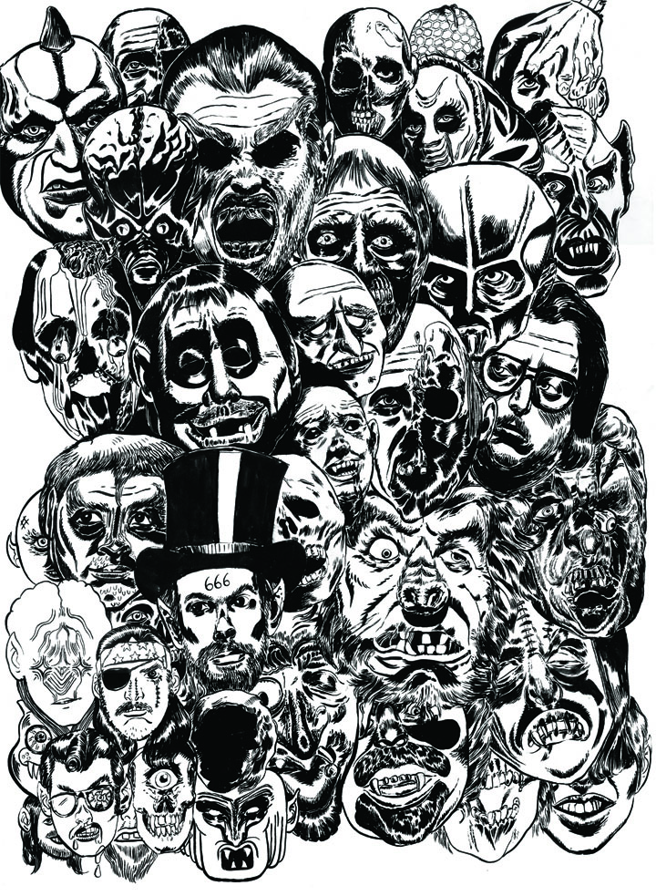 "2009/08/13 Black Dahlia Murder ""Monsters"" (B & W)"