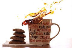 international coffee mug (SoniaBonia) Tags: coffee pumpkin kaffee international splash spill languages kava kopi kawa cafea kape pumpkincookies cookiesplash