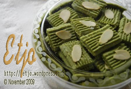 Almond Green Tea Etjo | Monggo ...