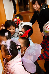 Halloween (Akira2506) Tags: china school portrait color colour cute english halloween monster kids costume scary october dress vampire zombie ghost chinese vivid fancy   teachers foreign aston shaanxi esl     tefl  weinan   canon400d