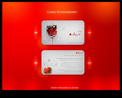 Card Strawberry (Mohammed Al Ghamdi (   )) Tags: strawberry card