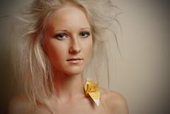 Of Moons, Birds and Monsters (Jem Richards) Tags: portrait test beauty female heidi model nikon origami crane makeup headshot blonde strobist