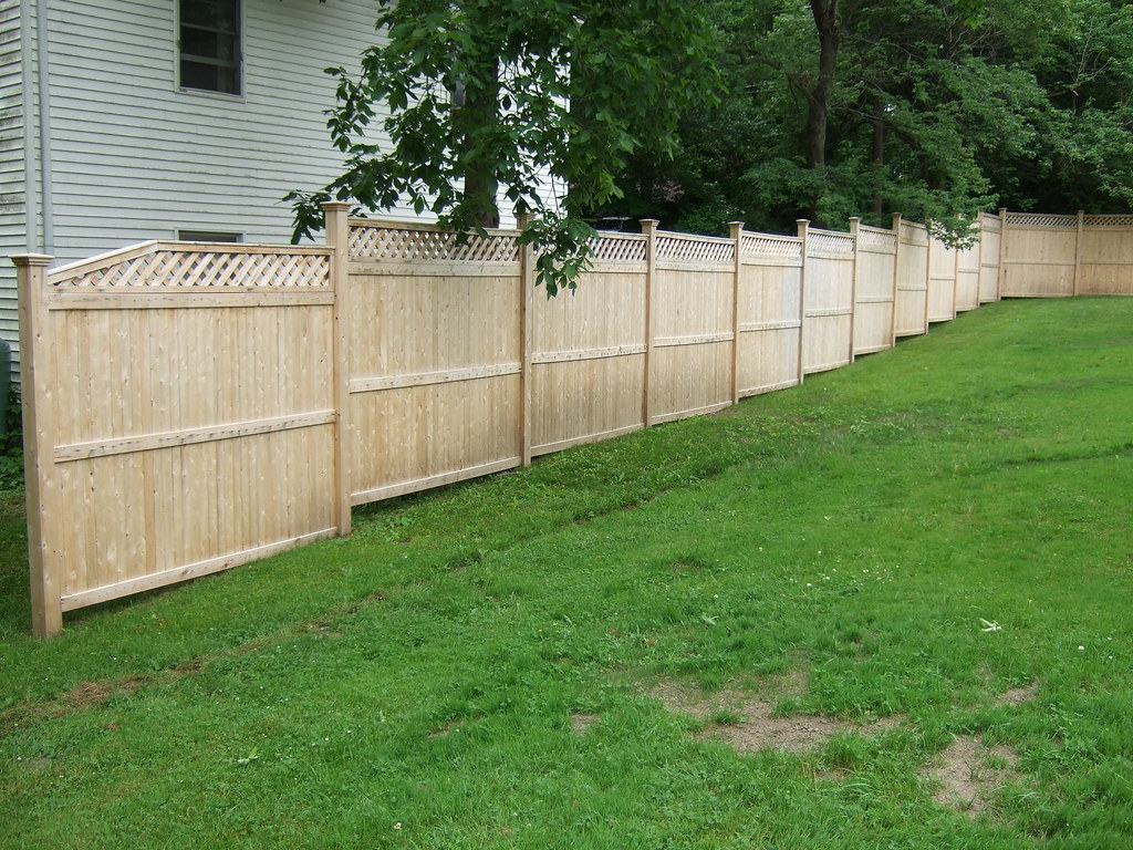 estimates for new w cedar privacy fencing 70 u0027 backyard