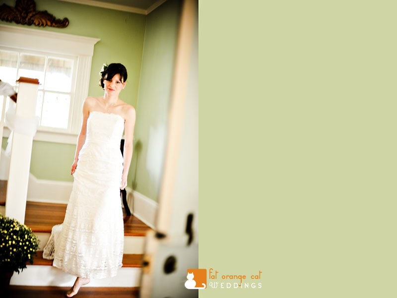 bride portrait in her house