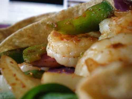 Shrimp Veggies in Pita - We're Not Much More Than Anything..