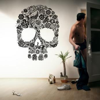 vinilo calavera decoracion paredes