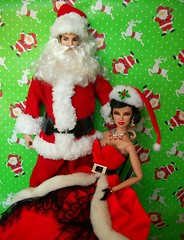 The  First  Couple  of  Christmas (napudollworld) Tags: santa christmas new fashion happy mr year barbie merry claus mrs royalty
