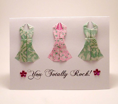 Origami Dress Card Greeting