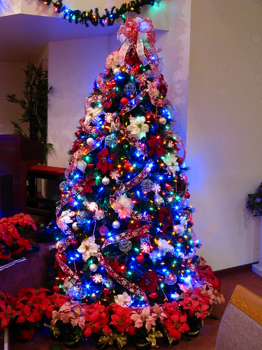 Christmas Tree Decorations With Multicolor Lights  Decorating Ideas