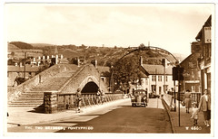 Pontypridd - the two bridges (pepandtim) Tags: 2001 old robert 1955 monochrome television price wales james early postcard 1940 cardiff william photograph toothpaste bye taff common slough jamesdean pontypridd rhondda tomjones 1756 oldbridge 1857 llantrisant trefforest williamedwards gibbssr 99ttb76 firstcremation