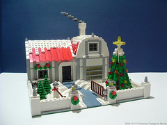 Christmas Cottage (Biczzz) Tags: christmas city lego postcard cottage minifig comunidade moc 0937 biczzz comunidade0937