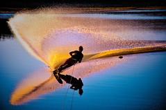 DZ18-9623 resized (Bernard Fisher) Tags: sunset lake ski reflection water nikon dam travis reflexions slalom waterski 18200vr nikond90 mtrtrophyshot