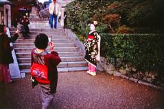 / geisha. (dawn till dusk.) Tags: film japan nikon kyoto fuji iso400 velvia geisha 400  push fujifilm fe 2009  kiyomizudera pushprocess rvp nikonfe2 fe2 velvia100f  japan2009 december2009