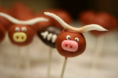Burnt Orange Cake Pops