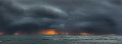 Oahu Sunset (Steve Deligan) Tags: sunset art water boats photography hawaii scenery unitedstates oahu fine wa sailboats waimeabay fineartphotography poulsbo cs4 hawaiioahu d700 deligan deliganis deliganisphotography