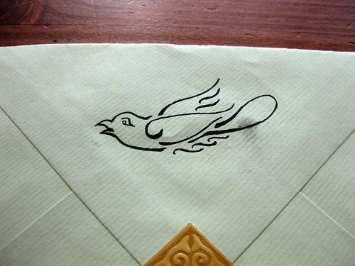 Letterbird closeup
