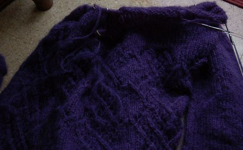 Handknitted Jumper (in progress)