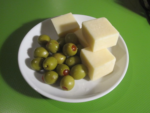 Cheese and olives from the bistro - free