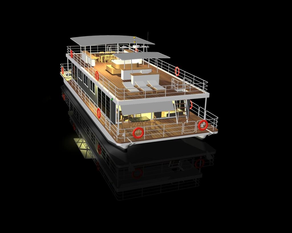 Respect River houseboat   Modus Maris catamarans