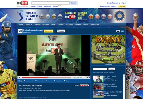 YouTube IPL