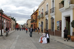 Streets of Oaxaca, Mexico (kjdrill) Tags: travel mexico ruins southern mayan aguaazul oaxaca palenque ha 6270 misol sancristobalmountainsjunglezocalowaterriverwaterfalls playingswingingstreethistorymarketfabricsrestaurants