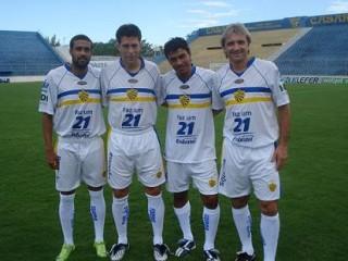 Pelotas apresentou o terceiro uniforme, branco. Crédito: ECPelotas