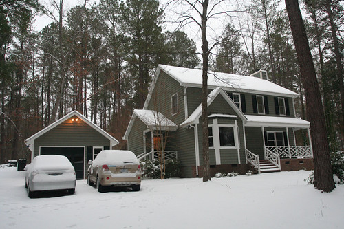 snow in NC!