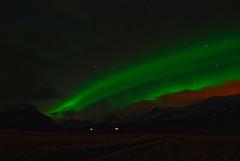 Aurora borealis last night. (Johanna Kristin) Tags: sky cloud mountains night stars auroraborealis fskrsfjrur