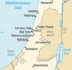 Ashdod_Israel_Map