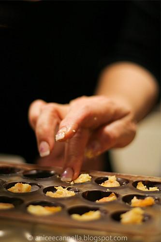 Temperaggio del cioccolato, il ripieno