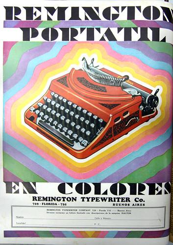 Remington portable typewriter ad