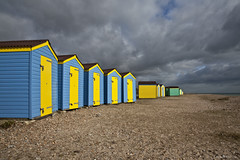 Beach huts, Littlehampton (Studyjunkie) Tags: uk greatbritain winter england beach coast westsussex britain gb beachhuts littlehampton buts explore54
