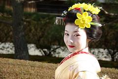 maiko (September_Okayama) Tags: portrait woman girl beauty japan temple japanese kyoto pentax maiko geiko geisha  kimono tamron     18250  k10d