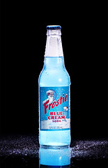 Frostie Blue Cream Soda ((((The Space Between)))) Tags: santa blue cold reflection ice home wet beer glass america cherry bottle cool beverage cream coke frosty made homemade pepsi 16 soda santaclause lime sodas beverages grape frosties creamsoda frostie creamcreme