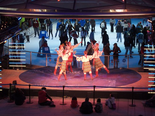 Dancers and Skaters at Robson Square