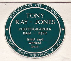 Photo of Tony Ray-Jones green plaque