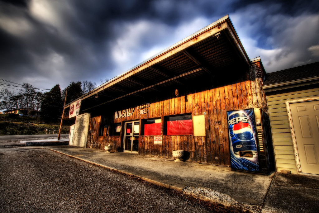 A convience store in middle-of-nowhere Tennessee.