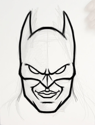 Batman head sketch