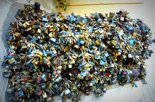 lots and lots of padlocks