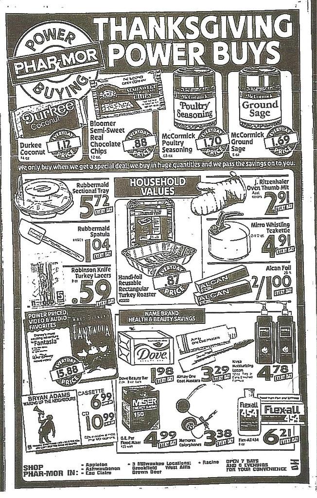 Phar-Mor Thanksgiving Power Buys - November 3, 1991