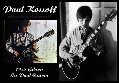 Paul Kossoff 1955 Gibson Les Paul Custom guitar Free collection Burst live collection Black Cat Bones