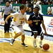 Horizon guard Devyn Iglegart drives against Francis Parker guard Coleman Baker