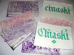 pacco per cinaski (mr GREN) Tags: ink print diy handmade brain stamp calligraphy calligrafia alphabeth misterg xilografia xilography useyourhead cinaski silografia