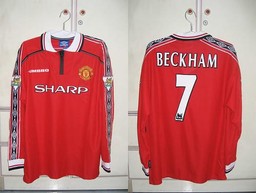 Manchester United 1998-2000 Home L/S (BECKHAM)
