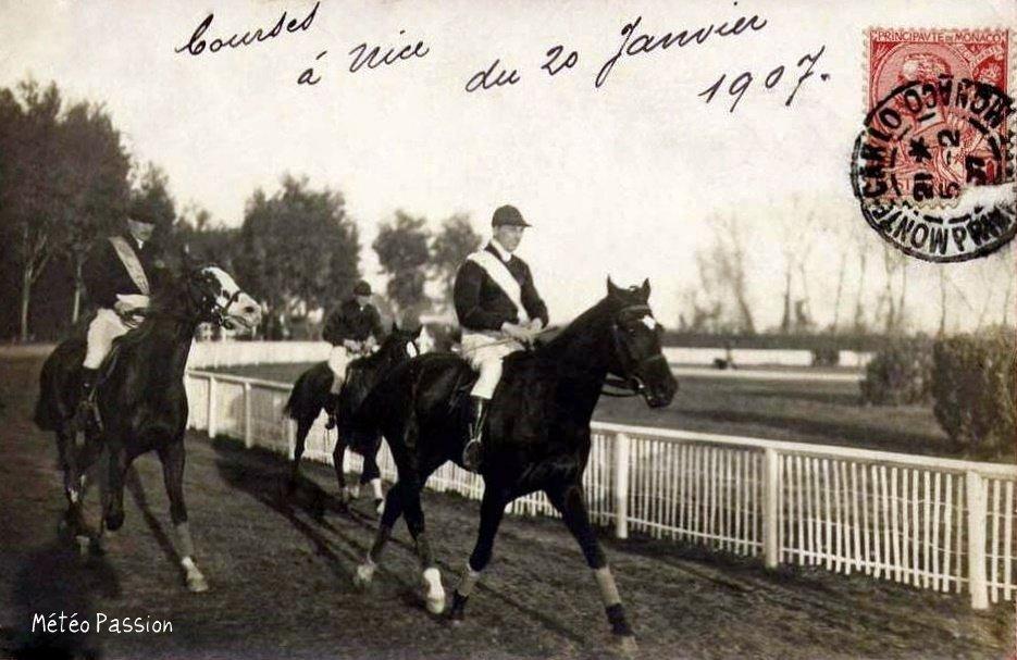 courses hippiques de Nice le 20 janvier 1907