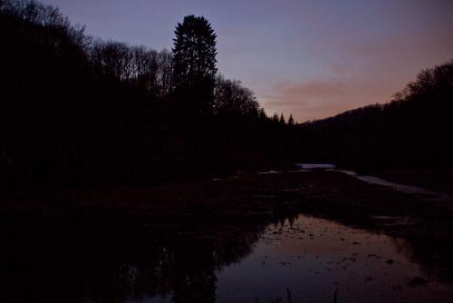 blaue Stunde im Helbetal bei Holzthaleben
