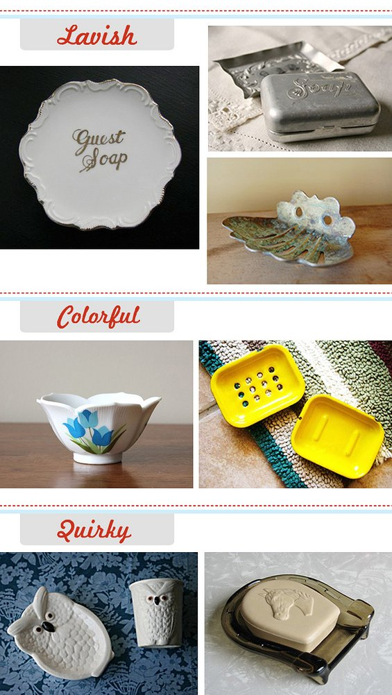 Vintage Soap Dishes on Etsy