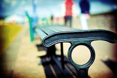 Same Bench Different Perspective (©Komatoes) Tags: uk people blur grass wall bench 50mm nikon f14 seat devon warren afs boken dawlish d40